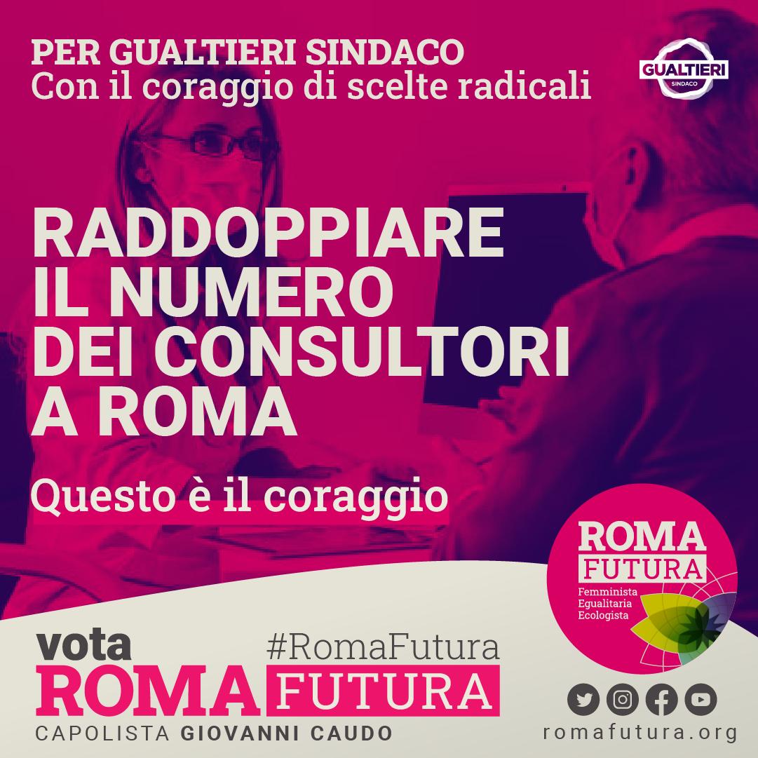 raddoppiare il numero dei consultori a Roma