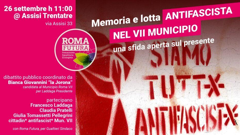 Memoria e lotta anfifascista nel VII Municipio